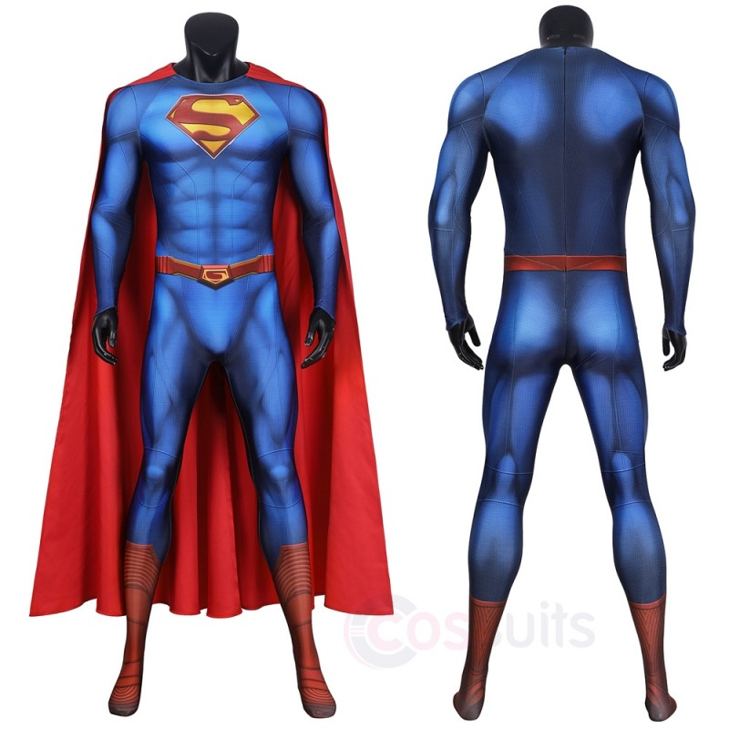 2021 superman cosplay costumes new superman and Lois cosplay jumpsuit