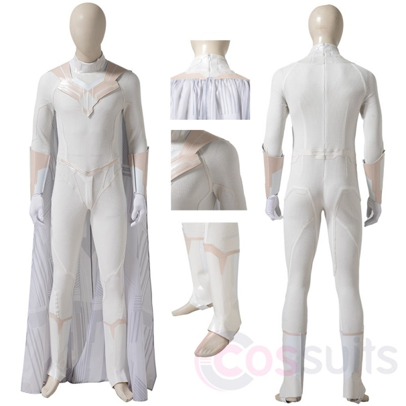 2021 WandaVision White Costume Vision Leather Cosplay Suit