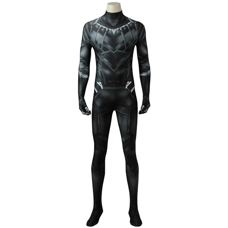 Captain America 3:Civil War Black Panther T'Challa Cosplay Costume