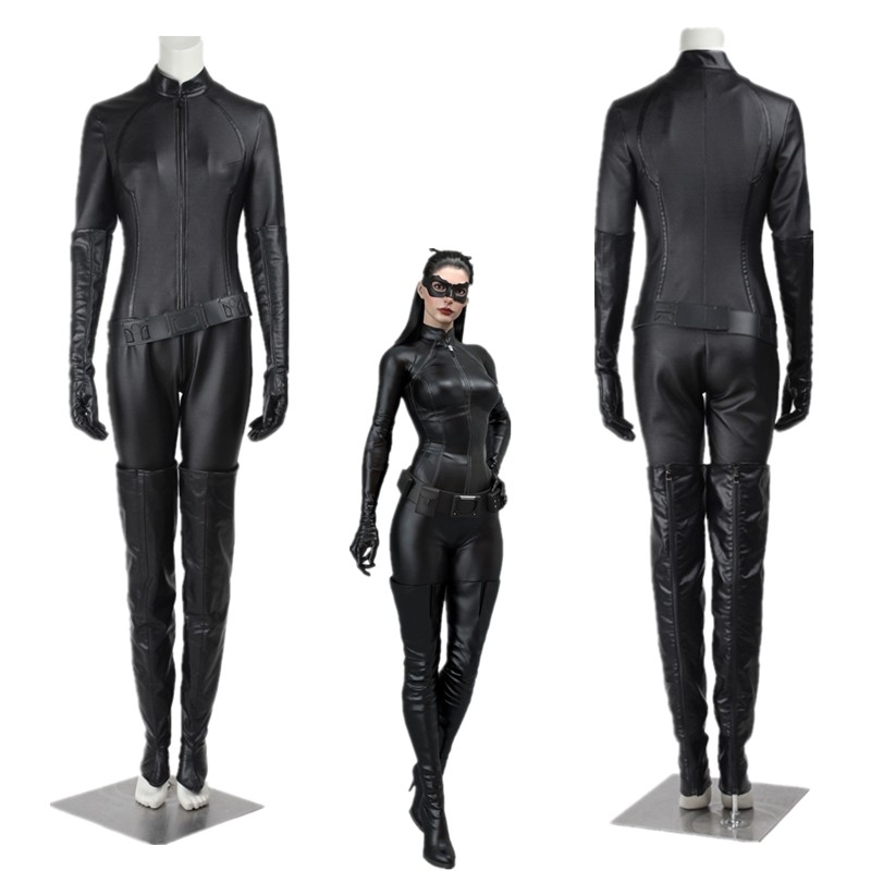 New Batman The Dark Knight Rises Selina Kyle Catwoman Cosplay Costume