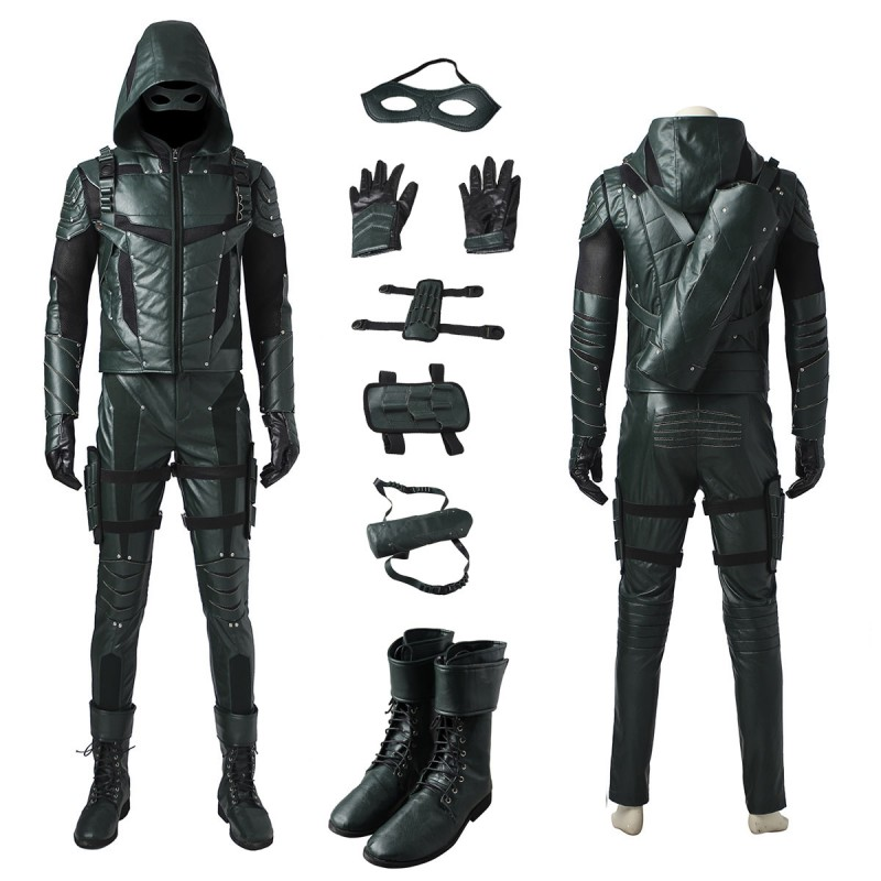 The Green Arrow Season 5 Oliver Queen Cosplay Costume