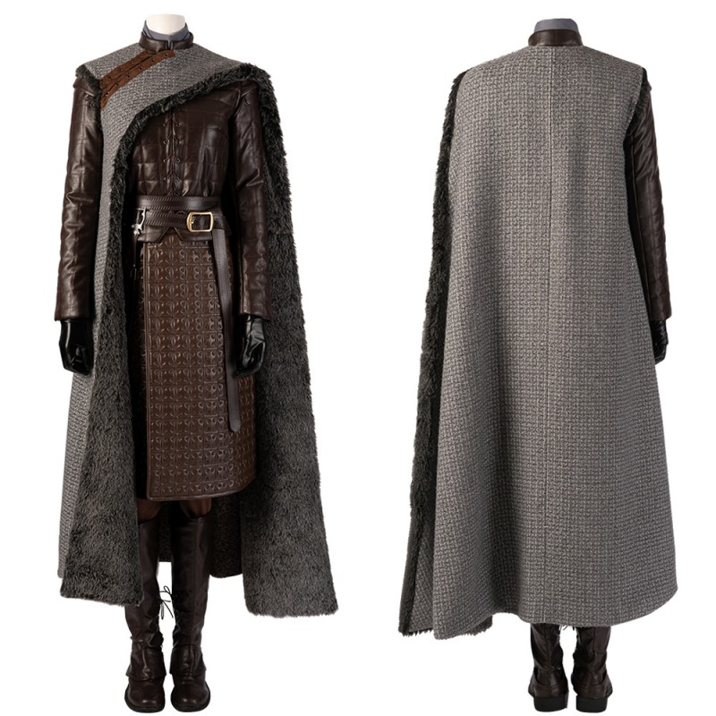 Arya Stark Cosplay Costume Game of Thrones Season 8 Cosplay Suit