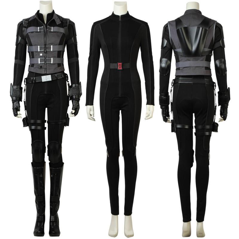 Avengers 3: Infinity War Black Widow Natasha Romanoff Cosplay Costume with Boots