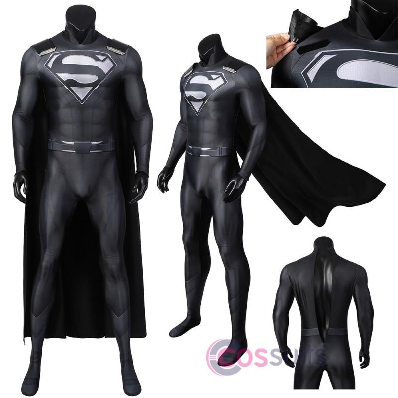 Crisis on Infinite Earths Superman Costume Kal-El Clark Kent Cosplay Suit