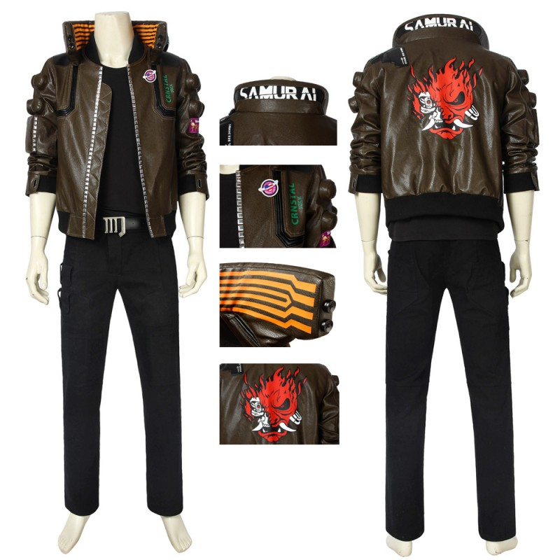 Cyberpunk 2077 Cosplay Costume Cyberpunk 2077 Male Jacket