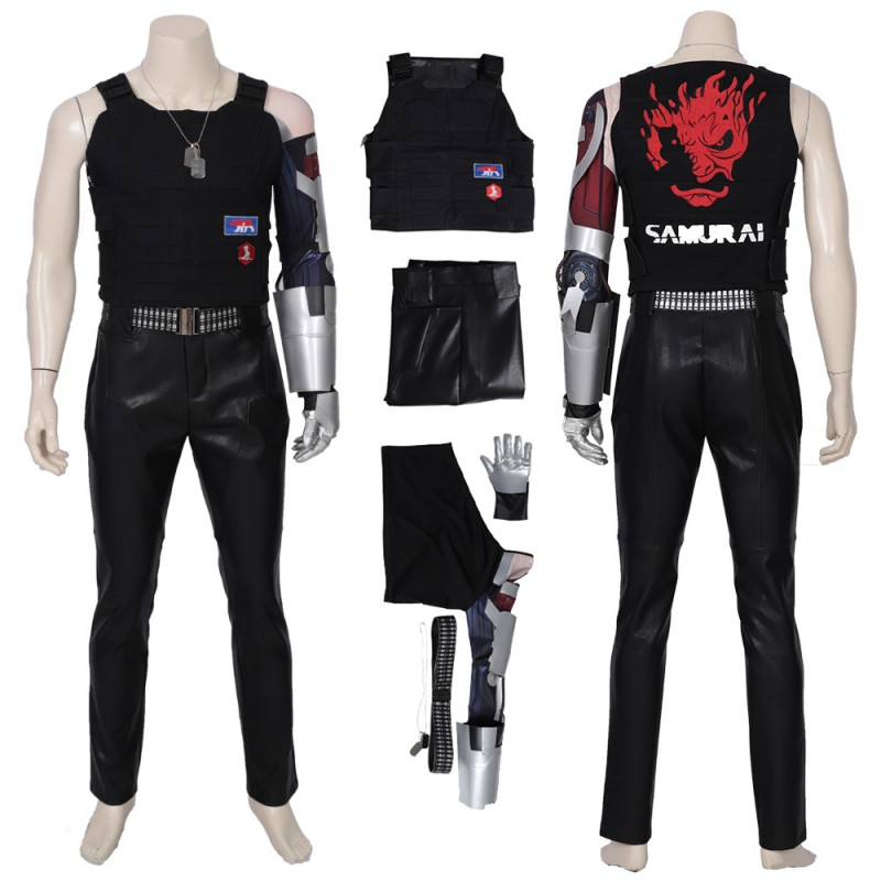 Cyberpunk 2077 Johnny Silverhand Costume Cosplay Suit