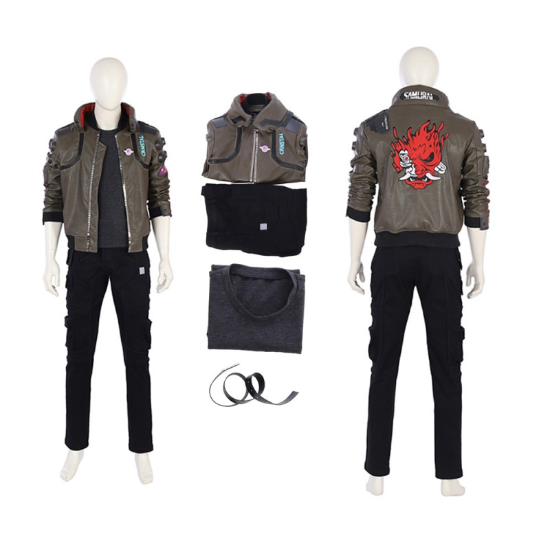 Cyberpunk 2077 Mens Jacket Cosplay Costume