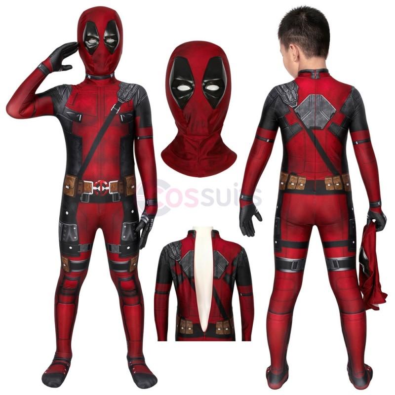 Deadpool Kids Suits Wade Wilson Jumpsuit Cosplay Costume