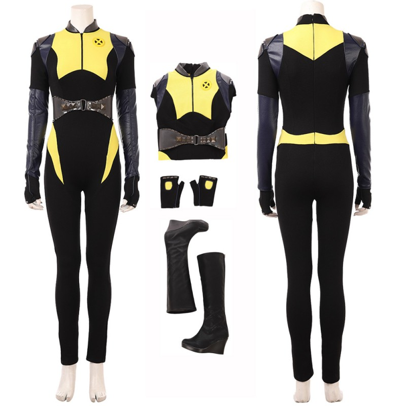 Deadpool 2 Negasonic Teenage Warhead Ellie Phimister Cosplay Costume with Boots