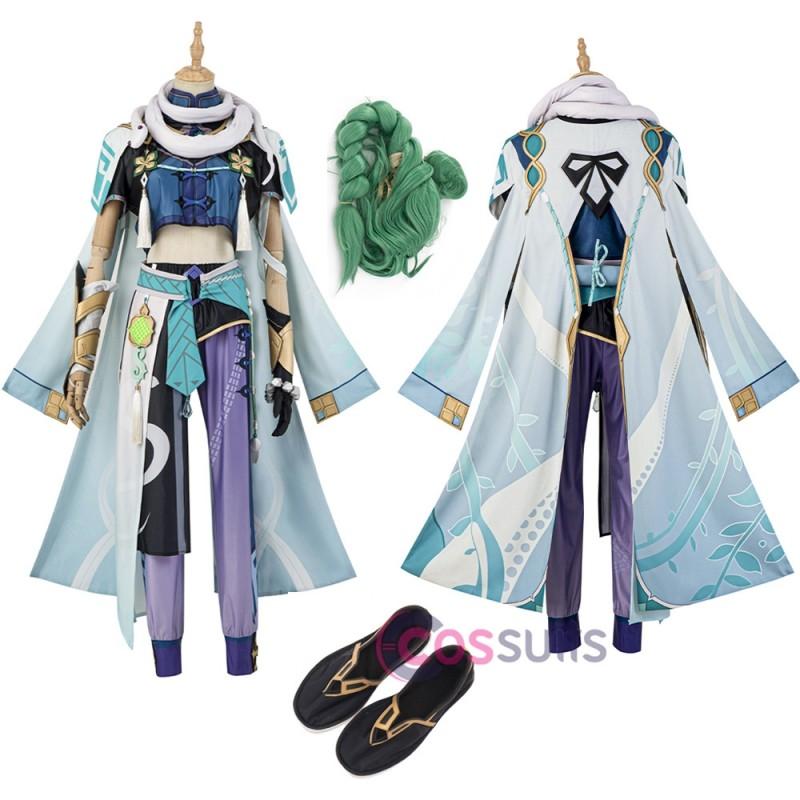Genshin Impact Baizhu Cosplay Costume Baizhu Suit