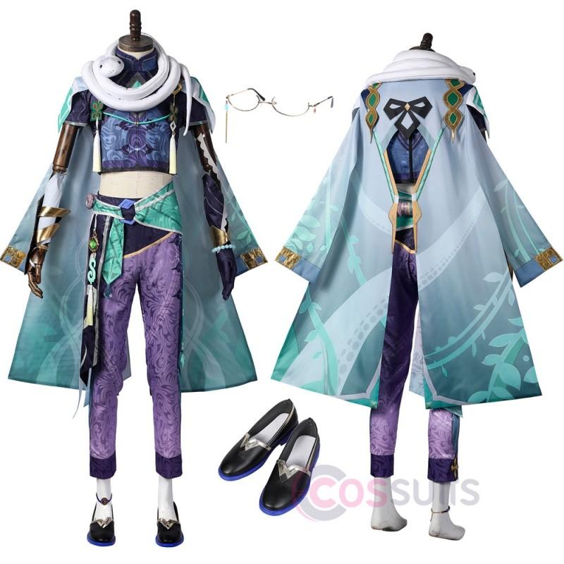Genshin Impact Baizhu Cosplay Costumes Baizhu Cosplay Suit