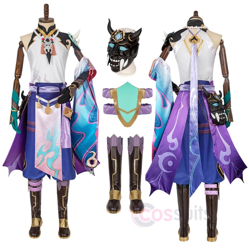 Genshin Impact Xiao Cosplay Costumes Xiao Cosplay Suit
