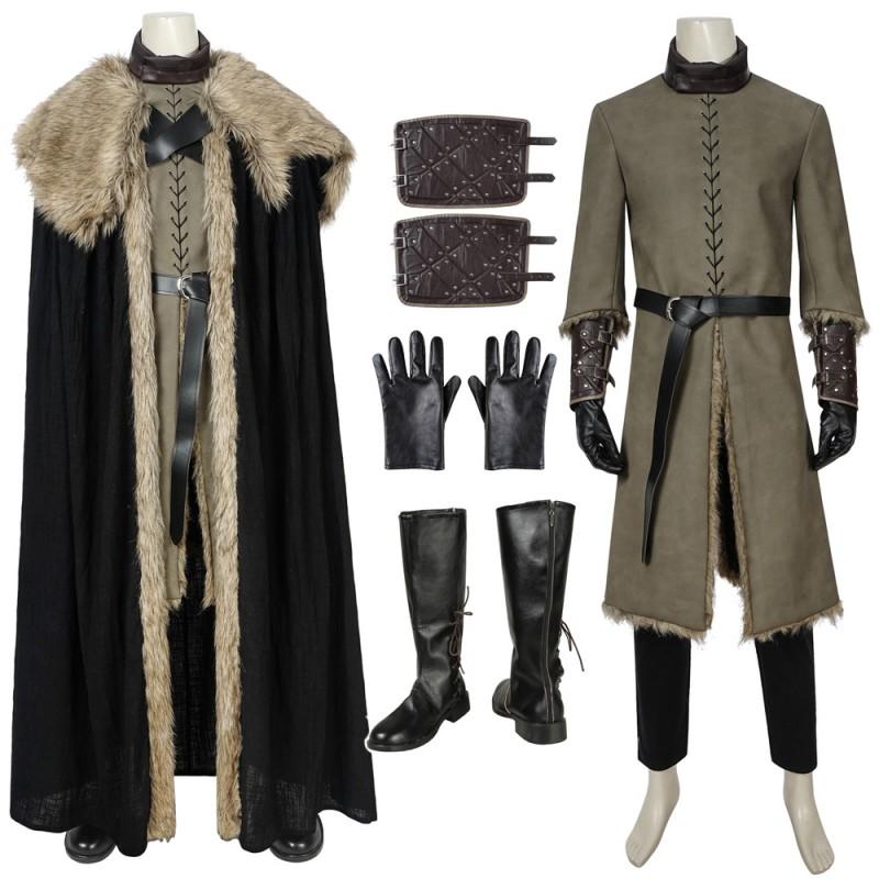 Jon Snow Stark Armor Cosplay Suit Game Of Thrones Season 8 Battle Costume