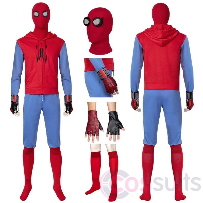 Spider-man Peter Parker Cosplay Costume Spiderman Ver.2 Cosplay Suit