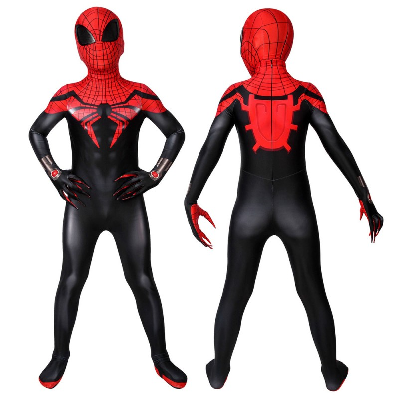 Marvel Superior Spiderman Cosplay Jumpsuit For Kids