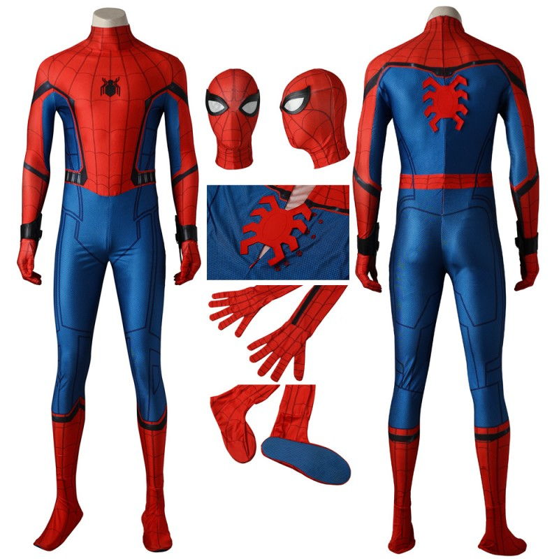 Spider-Man Suits Peter Parker Homecoming Cosplay Jumpsuit