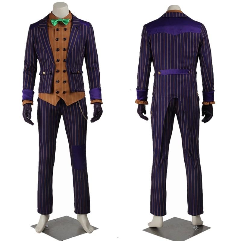 New Batman Arkham Asylum Joker Cosplay Costume