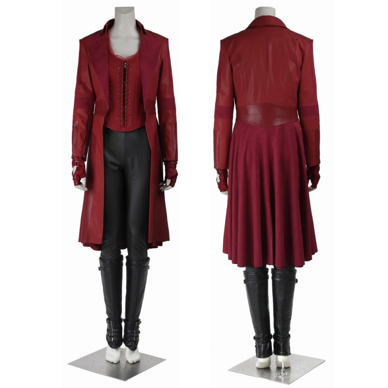 New Captain America Civil War Wanda Maximoff Scarlet Witch Cosplay Costume
