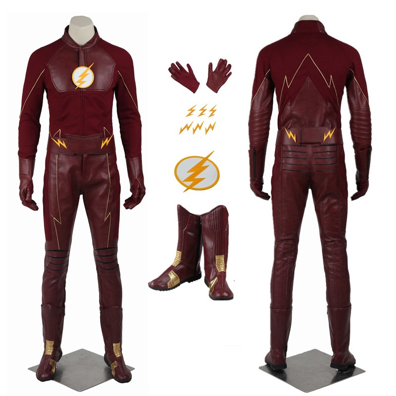New The Flash Season 2 Barry Allen The Flash Cosplay Costume