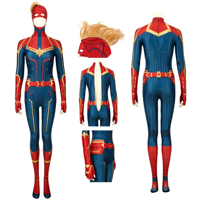 Captain Marvel Suit Carol Danvers Cosplay Costume