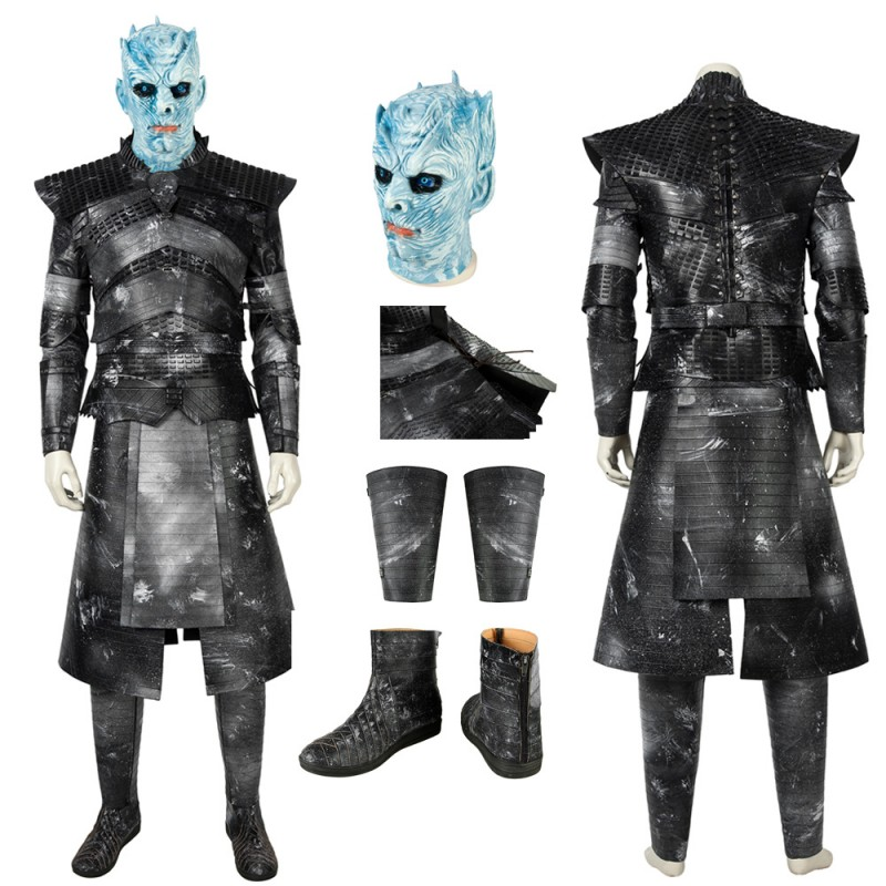 Night King Cosplay Costume With Mask Game of Thrones S8 Cosplay Suit