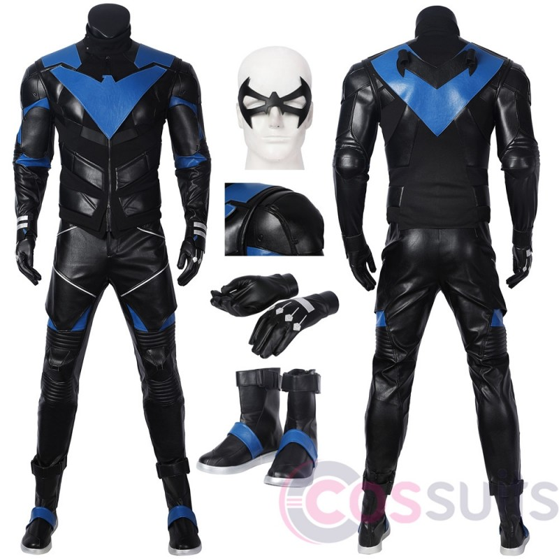 PS5 DC Gotham Knights Costume Nightwing Dick Grayson Cosplay suit