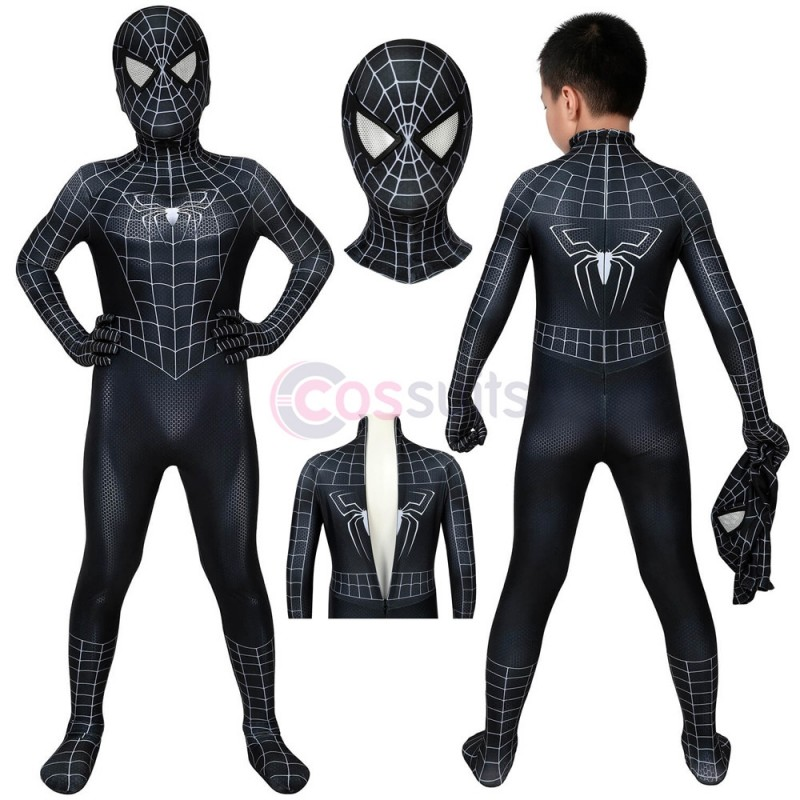 Spider-man Kids Costume Spiderman 3 Eddie Brock Venom Cosplay Suits