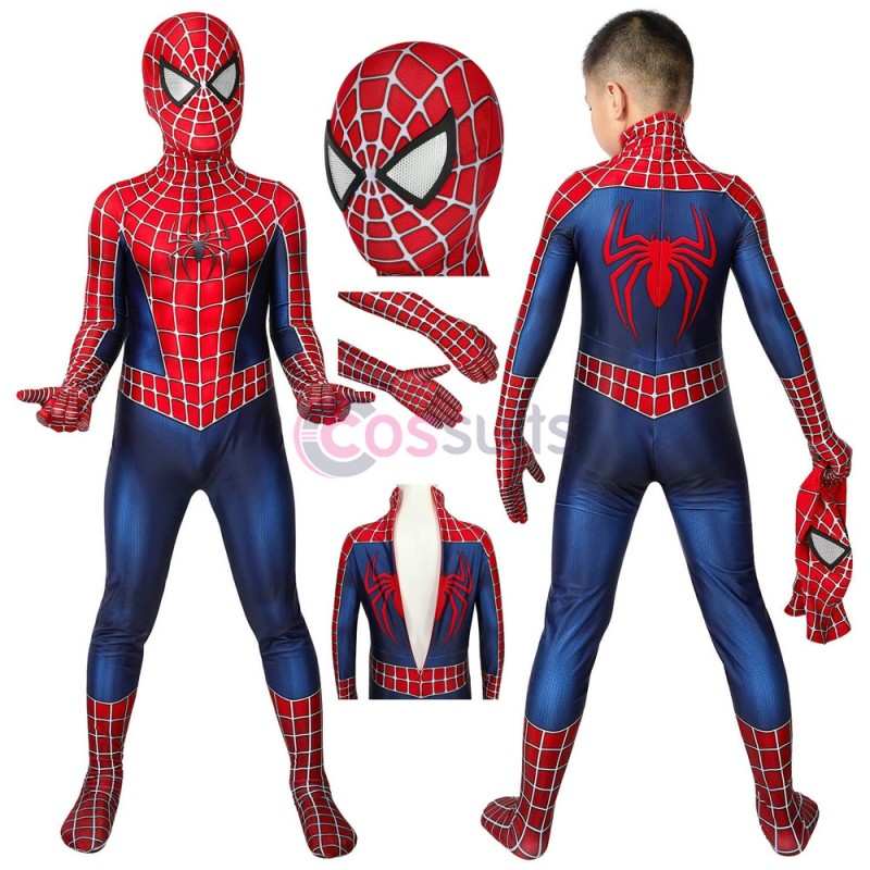 Spiderman Kids Suits Spider-man Tobey Maguire Cosplay Costume