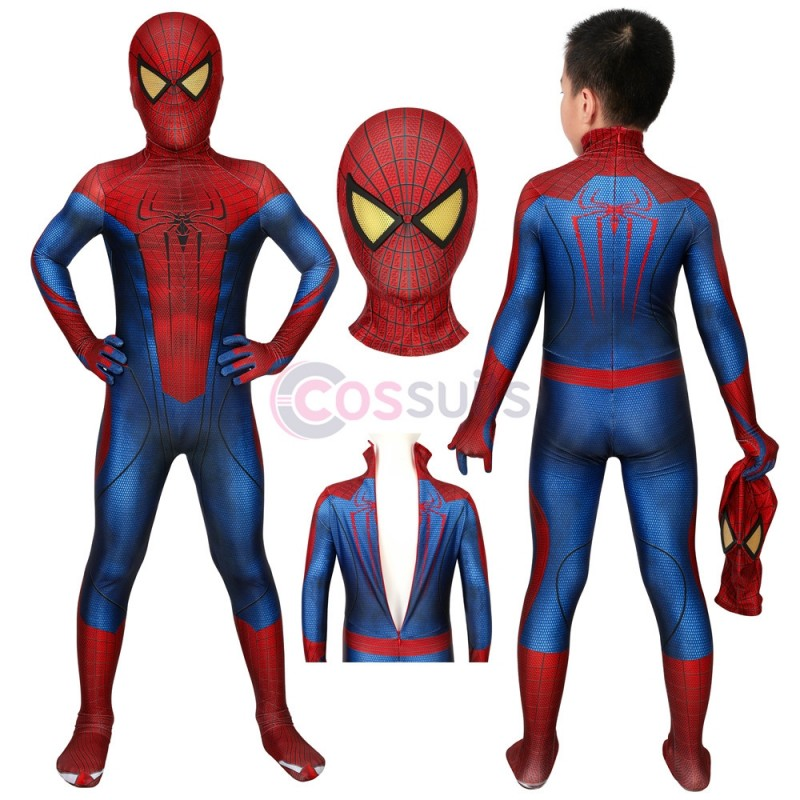 Spider-man Kids Suits The Amazing Spiderman Jumpsuit Cosplay Costume