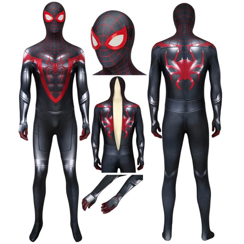Spiderman Miles Morales PS5 Costume Cosplay Jumpsuit