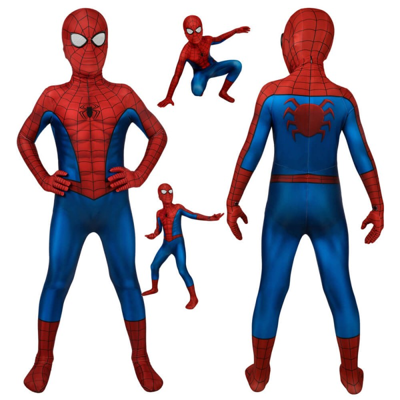 Spiderman PS4 3D Classic Cosplay Suit For Kids