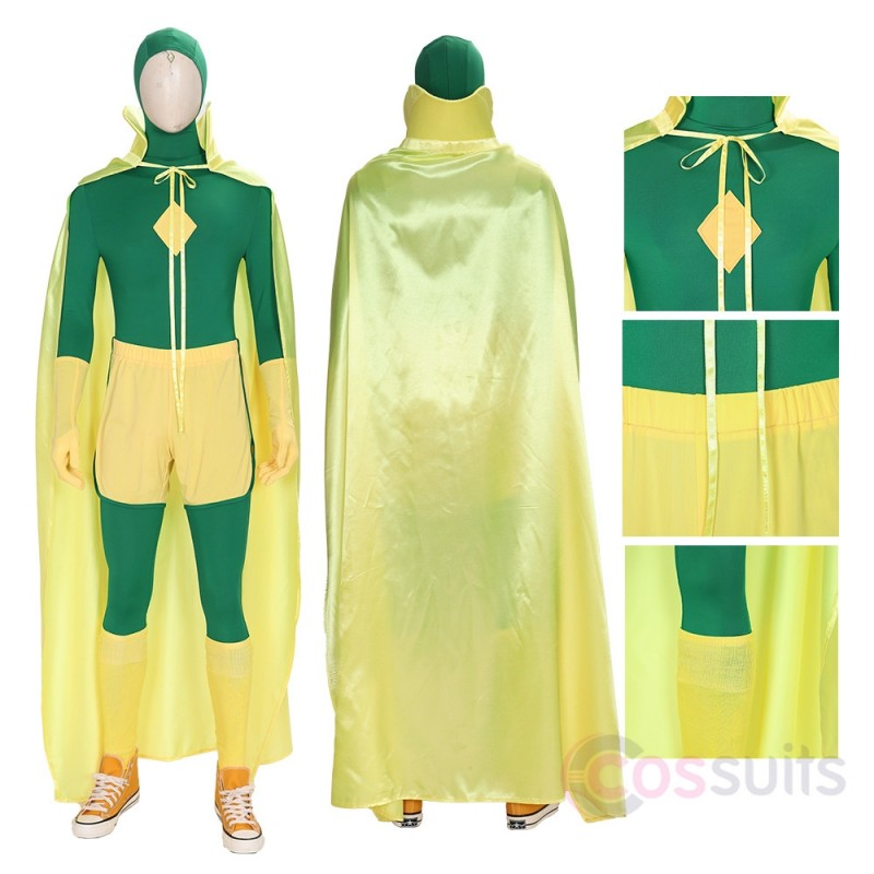 Vision Green Cosplay Costumes Wanda Vision Cosplay Suit