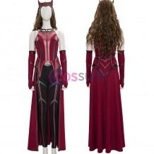 2021 New WandaVision Scarlet Witch Costume Wanda Cosplay Suit