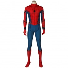 New Spider-Man: Homecoming Peter Parker Cosplay Costume Jumpsuits with Mask and Wrister