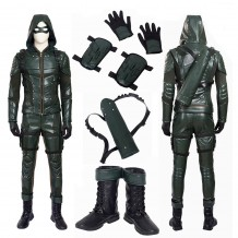 DC Arrow 5 Oliver Queen Green Arrow Cosplay Costume