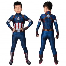 Avengers: Age Of Ultron Captain America Steve Rogers Cosplay Jumpsuit For Kids