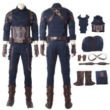 Avengers Infinity War Captain America Steven Rogers Costume Cosplay Suit