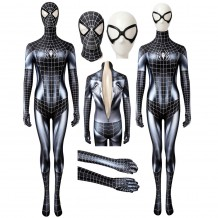 Black Cat Jumpsuit Spiderman Black Cat Symbiote Cosplay Costume