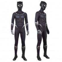 Black Panther Cosplay Costume T'Challa Black Jumpsuit
