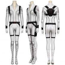 Black Widow 2020 Natasha Romanoff White Cosplay Jumpsuit