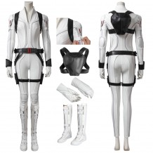 Black Widow 2020 Costume Natasha Romanoff White Cosplay Suit
