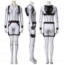 Black Widow Natasha Romanoff White Cosplay Jumpsuit