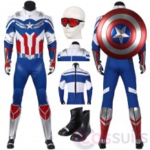 Captain America Sam Wilson Cosplay Costume New The Falcon And The Winter Soldier Cosplay