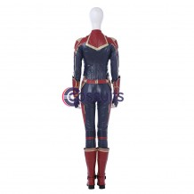 2019 Captain Marvel Carol Danvers Cosplay Costume Red Version