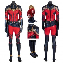 Captain Marvel Costume Carol Danvers Avengers Endgame Cosplay Suits