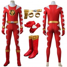 Conner McKnight Cosplay Costume Power Rangers Dino Thunder Red Costume