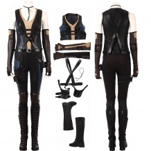 Deadpool 2 Domino Costume Cosplay Suit For Woman