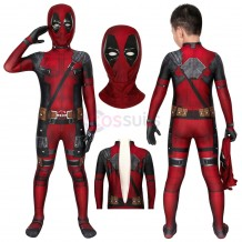 Deadpool Kids Suits Wade Wilson Jumpsuit Cosplay Costume