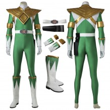Green Power Rangers Burai Dragon Ranger Cosplay Costume With Boots