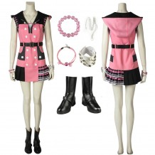 Kairi Cosplay Costume Kingdom Hearts 3 Pink Cosplay Suit